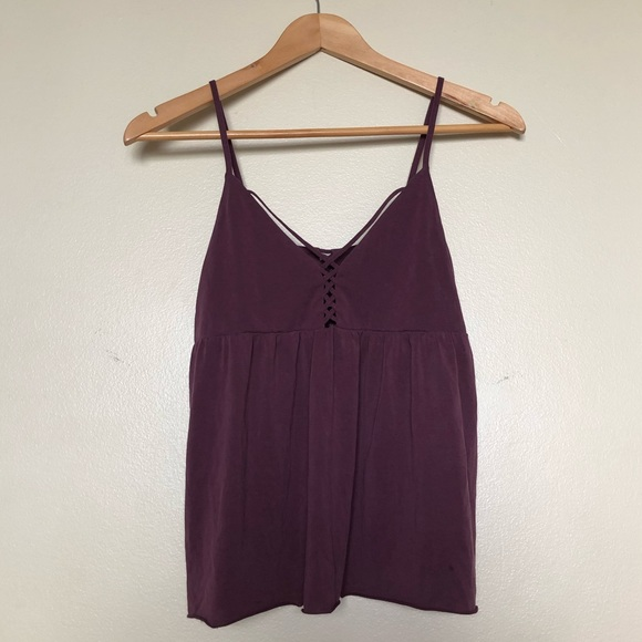 American Eagle Outfitters Tops - Suede Plum Soft & Sexy Tank, S || American Eagle